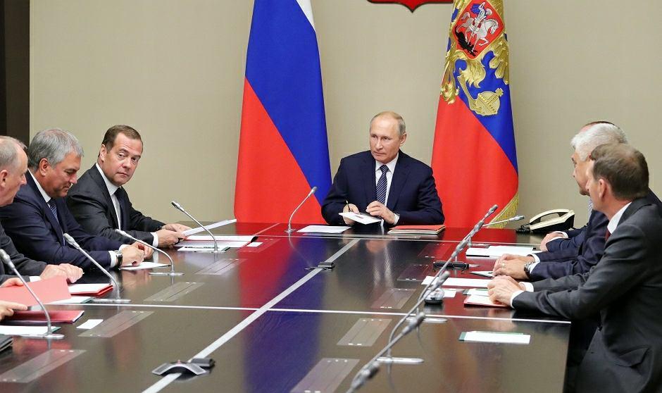 Spotkanie rządu z prezydentem Władimirem Putinem na Kremlu