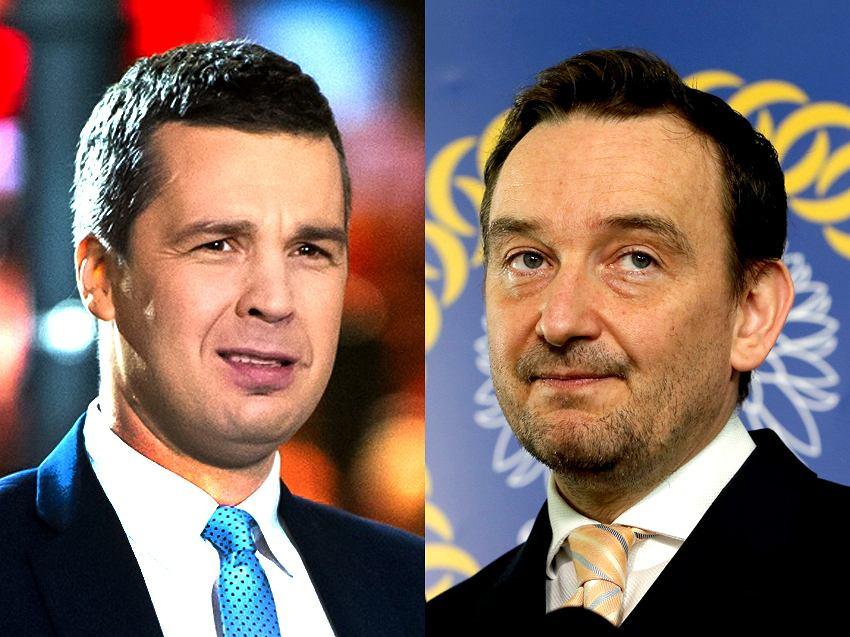 Dziennikarz TVP Michał Rachoń i sędzia Maciej Mitera