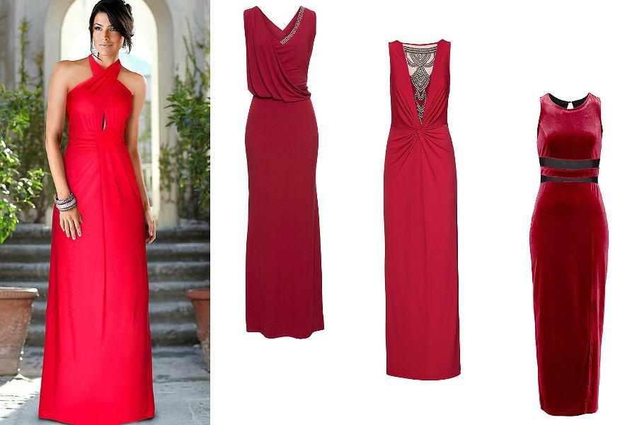 długie czerwone suknie