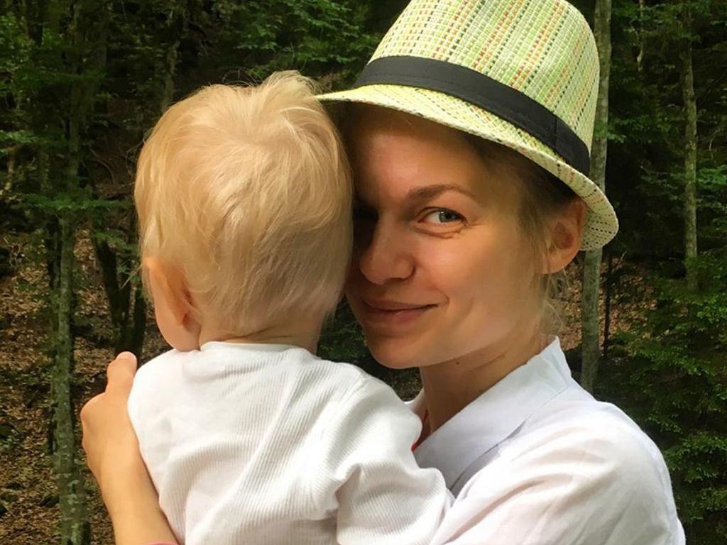 Emilia Komarnicka z synem