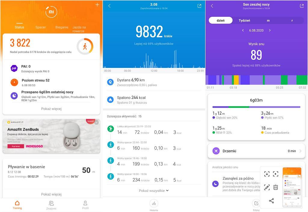Xiaomi Mi Band 5 - aplikacja