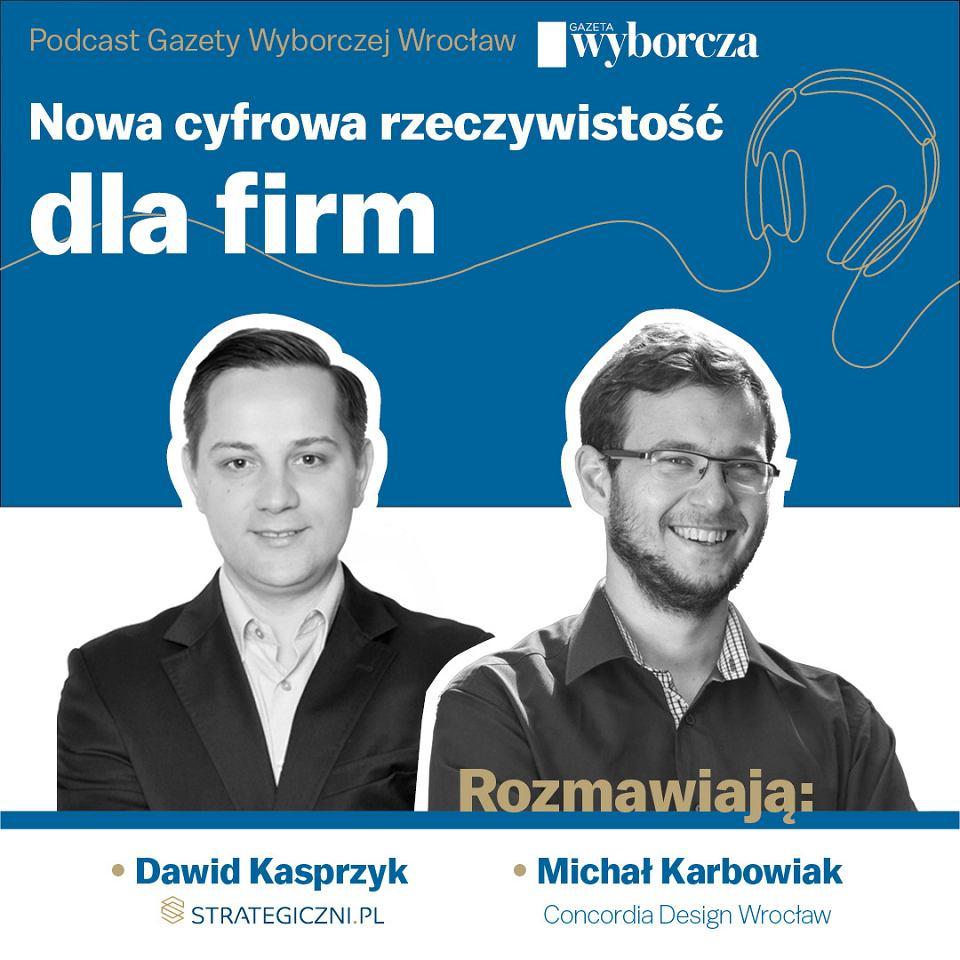 Dawid Kasprzyk i Michał Karbowiak w podcaście 'Gazety Wyborczej'