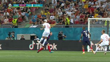 Seferovi a marcat 1-0 în finala 1/8 împotriva Franței.  Euro 2020. Elveția.  Sursa: TVP SPORT TRANSMISJA