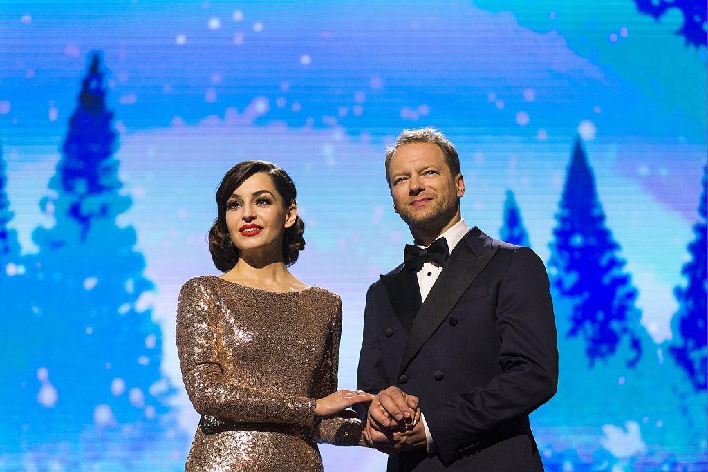 Agnieszka Więdłocha i Maciej Stuhr na planie filmu ''Planeta singli 2''