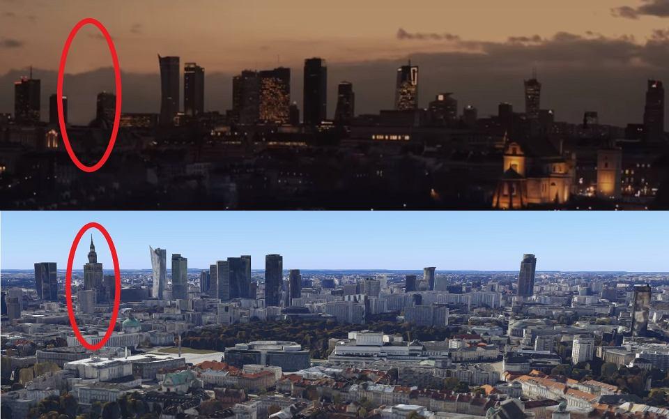 Panorama centrum Warszawy - w spocie PFN i na mapach Google