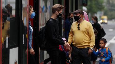Początek roku szkolnego w dobie pandemii koronawirusa. Praga, Czechy, 1 września 2020