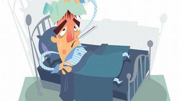 Gorączka i wzmożone pocenie podczas choroby zazwyczaj pomagają ci wrócić szybciej do zdrowia