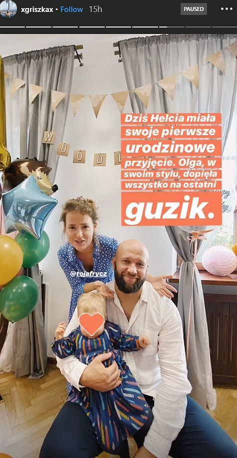 Urodziny córki Olgi Frycz