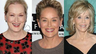 """Operacje plastyczne, botoks, nieruchome twarze - tak wygląda dziś wiele aktorek, które przekroczyły granicę 50 lat. Otwarcie mówi się o tym, że w Hollywood liczy się młodość, a starsze gwiazdy ustępują miejsca mniej utalentowanym, ale """"ładniejszym"""", a przede wszystkim młodszym nastepczyniom. Jednak nie brakuje kobiet, które postanowiły bronić się własnymi umiejętnościami i nie rezygnować z twarzy, która potrafi wyrażać emocje. Nawet jeśli poprawiają urodę, robią to z wyczuciem i umiarem. A póki co, ich nazwiska nadal nie znikają ze świata filmu."""