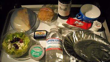 Posiłek na pokładzie samolotu linii British Airways