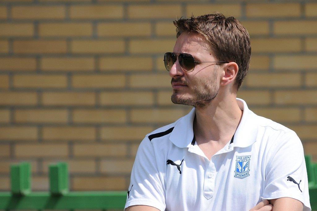 Lech Poznań - Lechia Gdańsk 3:0 w sparingu w Grodzisku Wlkp. Wiceprezes Lecha Piotr Rutkowski