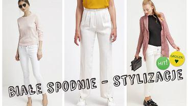 Białe spodnie - kilka gotowych stylizacji z nimi w roli głównej