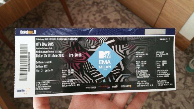 Bilet na galę MTV EMA