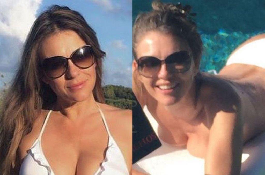 Elizabeth Hurley wypoczywa na wakacjach w skąpym bikini. Tych zdjęć nie zrobił paparazzo. Ona sama się nimi pochwaliła i nie ma się co dziwić. 50-letnia gwiazda wygląda, jakby była o 20 lat młodsza.