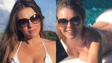 """Elizabeth Hurley wypoczywa na wakacjach w skąpym bikini.  Tych zdjęć nie zrobił paparazzo. Ona sama się nimi pochwaliła i nie ma się co dziwić. 50-letnia gwiazda wygląda, jakby była o 20 lat młodsza. """"Bardzo sexy"""" - ocenił """"Daily Mail"""" i należy tę ocenę uznać za trafioną."""