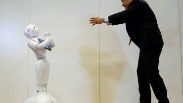 Prezentacja czytającego emocje robota Pepper, Tokio