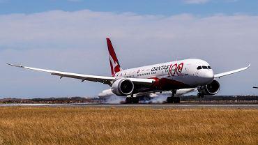 Samolot Qantas wylądował w Australii. Pobił dwa rekordy świata