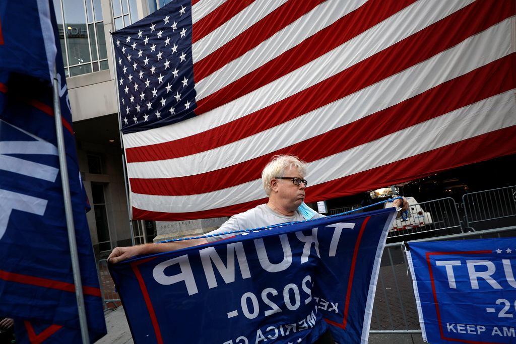 Protesty zwolenników Donalda Trumpa w USA.