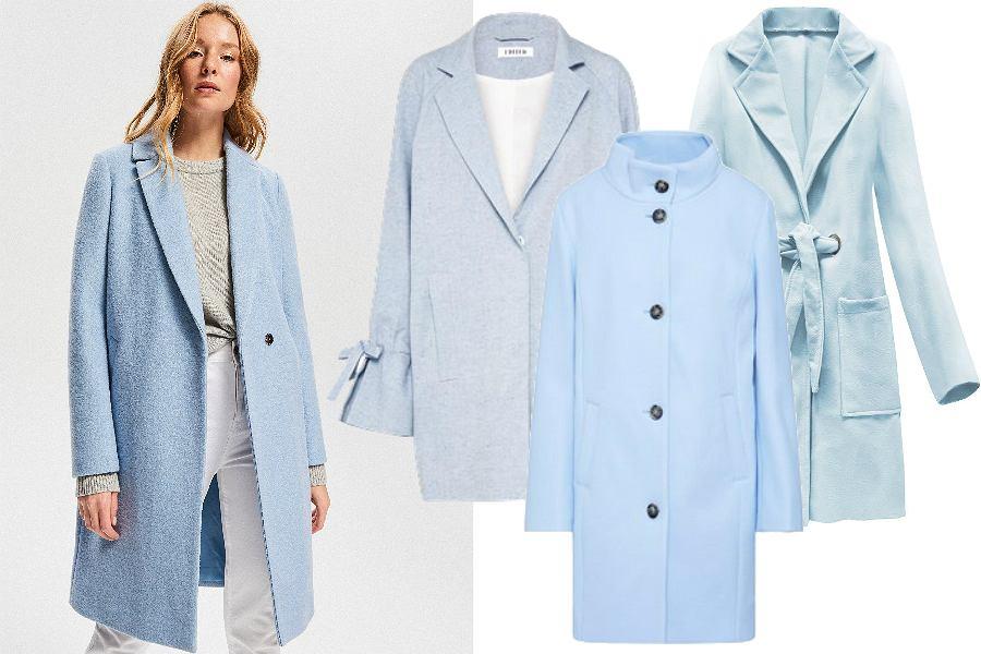 Niebieskie i miętowe płaszcze