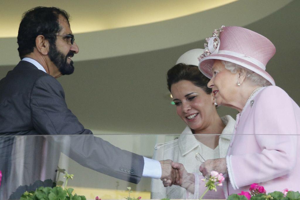 Muhammad ibn Raszid Al Maktum, księżniczka Haya, królowa Elżbieta II