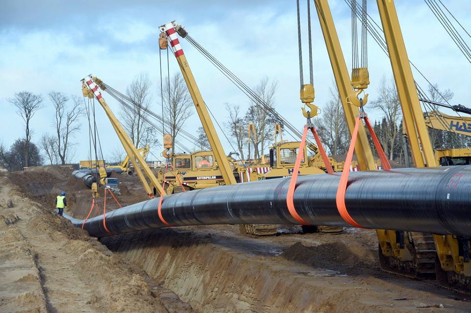 Budowa rurociągu Nord Stream 2, Mecklenburgia - Pomorze Przednie, Niemcy, grudzień 2018