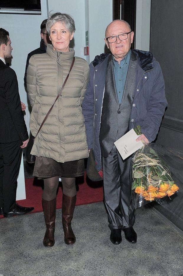 Maciej Damięcki z żoną i synową