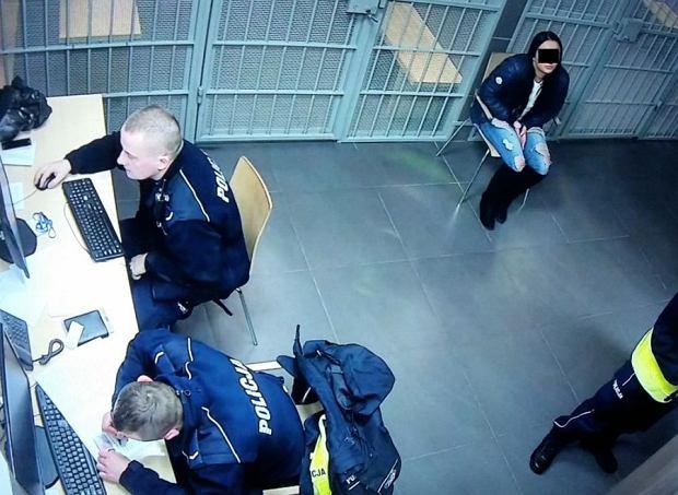 Zatrzymana przez policjantów 19 letnia Sandra S.