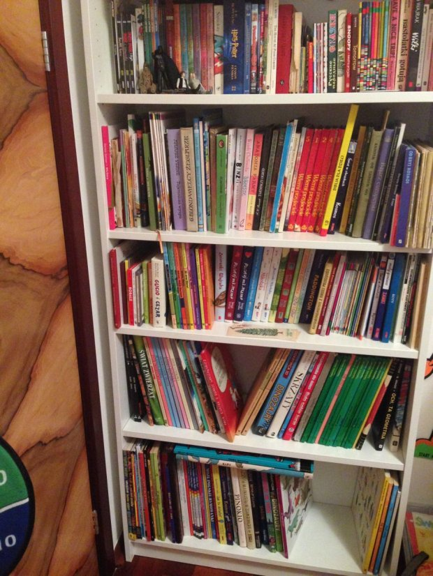 Biblioteczka czterolatka (jednak diametralnie różna) (fot. Agata Uhle)