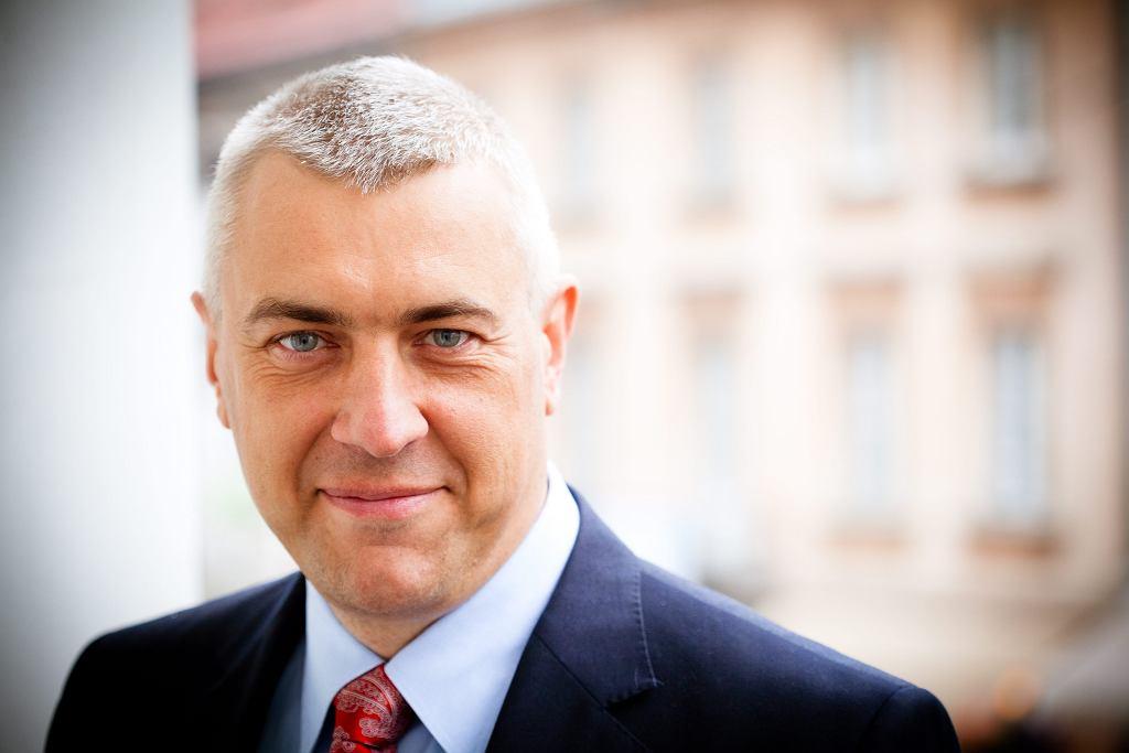 Mecenas Roman Giertych w swojej kancelarii. Warszawa, 15 stycznia 2014