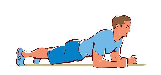 ćwiczenia, Ćwiczenia: ja dobrze pływać kraulem, Podpór przodem na przedramionach