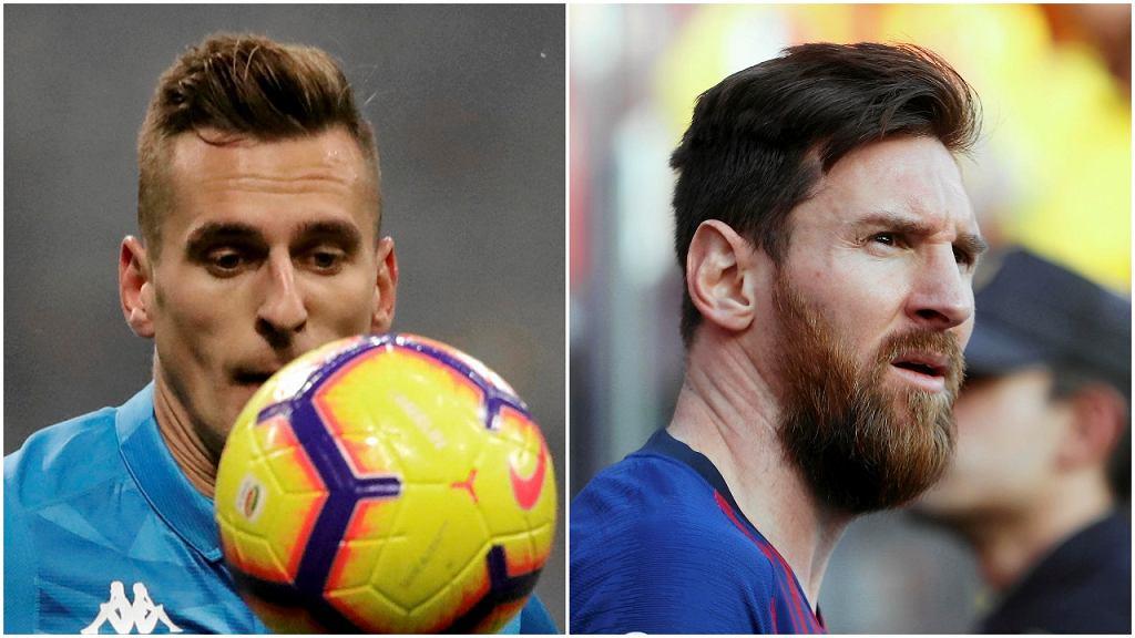 Arkadiusz Milik i Lionel Messi