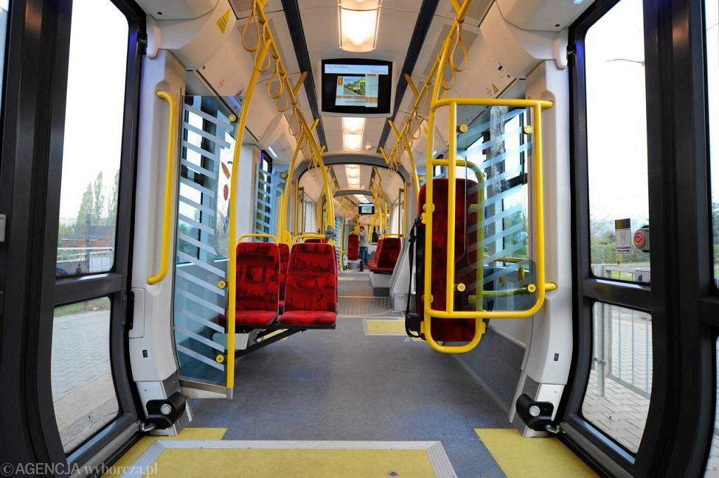 Wnętrze tramwaju 'Swing'