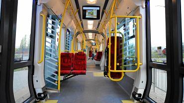 """Wnętrze tramwaju """"Swing"""""""