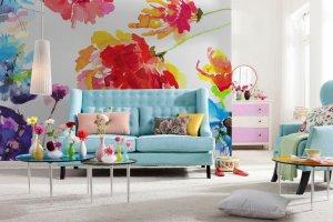 Ściany: przyśpiesz wiosnę - ożyw wnętrze fototapetą w kwiaty