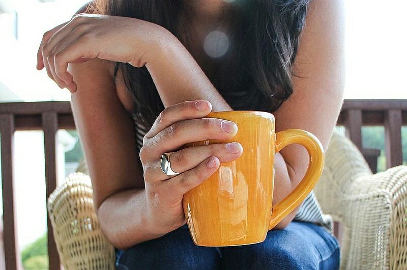 Kubek kawy na śniadanie