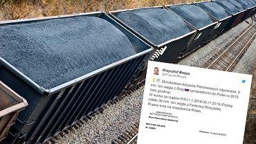 Poseł Brejza: 36 mln ton rosyjskiego węgla importowano do Polski za rządów PiS