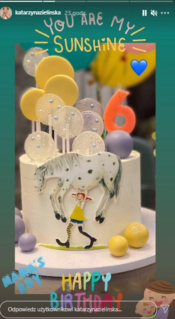 Katarzyna Zielińska pokazała tort syna