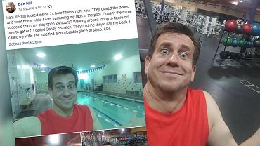 Mężczyzna został zamknięty na siłowni, która powinna być otwarta 24 godziny na dobę