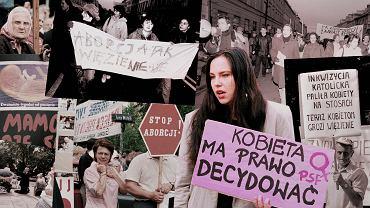 Zwolennicy i przeciwnicy ustawy antyaborcyjnej w latach 90.