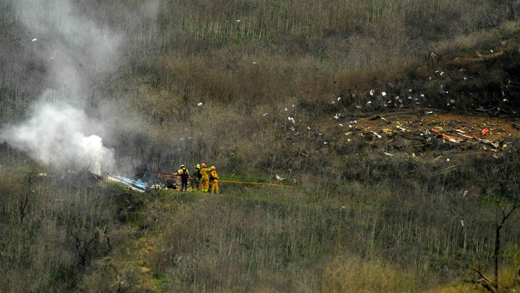 26.01.2020, Calabasas, Kalifornia, rozbity helikopter w którym zginął Kobe Bryant.