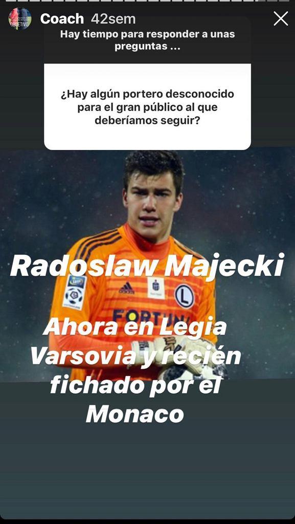 Andres Palop o Radosławie Majeckim
