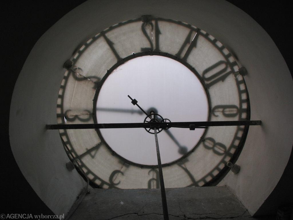 Olsztyn, zegar na ratuszowej wieży