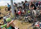 Tour de France wstrzymany pod betonowym słupem