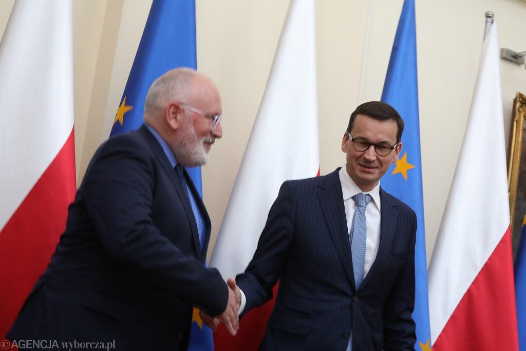 Spotkanie Fransa Timmermansa i Mateusza Morawieckiego