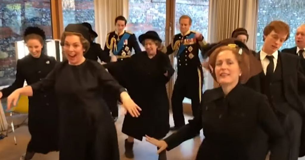 The Crown Season 4 Cast Dancing to Good As Hell By Lizzo