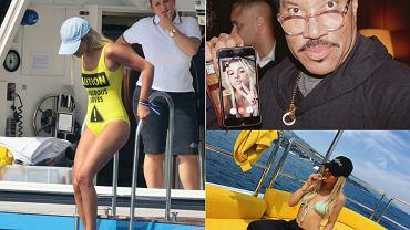 """Sofia Richie to 17-letnia córka jednej z legend muzyki - Lionela Richie. Choć nastolatka dopiero zaczyna swoją karierę, jest już znana jako """"it girl"""". Ma dużo pieniędzy, sławnego tatę, a do tego urodę i popularny wśród internautów Instagram. Obecnie przebywa w Saint Tropez, gdzie relaksuje się i bawi."""