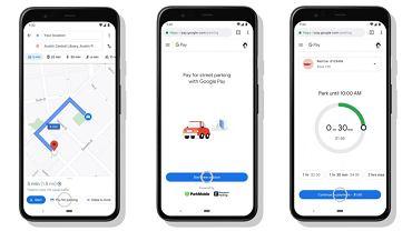 Płacenie za parking z Mapami Google