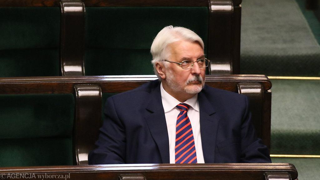 Były szef MSZ Witold Waszczykowski