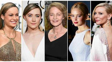 Kategoria najlepsza aktorka: Brie Larson, Saoirse Ronan, Charlotte Rampling, Jennifer Lawrence, Cate Blanchett