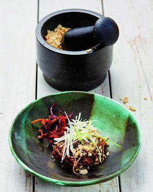 Smażone warzywa zkurczakiem